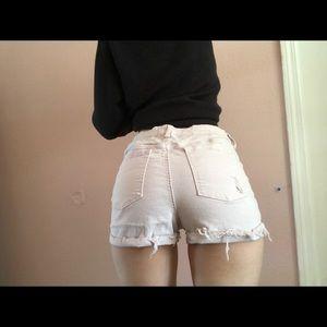 pac sun light lilac shorts!